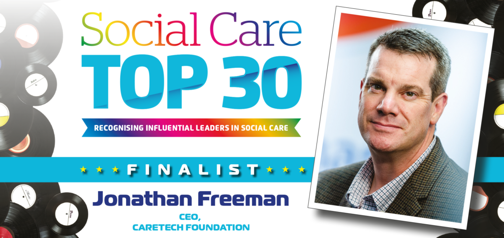 Image of Jonathan Freeman who has been nominated as finalist in Social Care Top 30