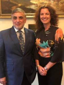 Photo of Haroon Sheikh and Adrienne Kelbie